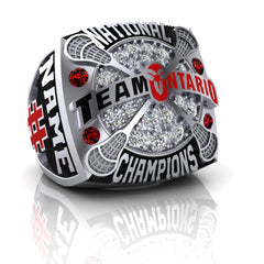 Team Ontario Lacrosse National Champions Ring - Design 3
