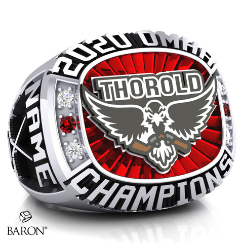 Thorold Blackhawks Championship Ring - Design 1.8