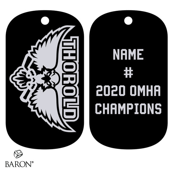 Thorold Blackhawks Dog Tags