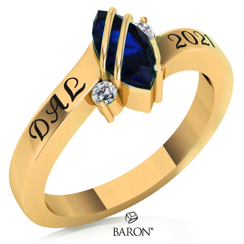Class Ring - 3059 (Gold Durilium, 10KT White Gold)