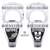 Guelph Gryphons Track and Field Championship Ring - Design 3.1(LG)