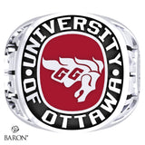 University of Ottawa Exclusive Class Ring (Durilium/Silver/10Kt White Gold) - Design 1.1