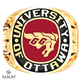 University of Ottawa Exclusive Class Ring (Gold/10Kt Yellow Gold) - Design 1.2