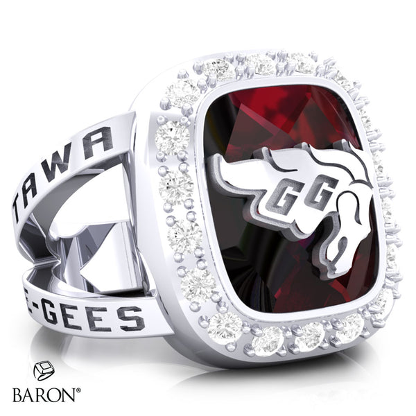 University of Ottawa Renown Class Ring (Durlium, Sterling Silver, 10kt White Gold) - Design 5.1