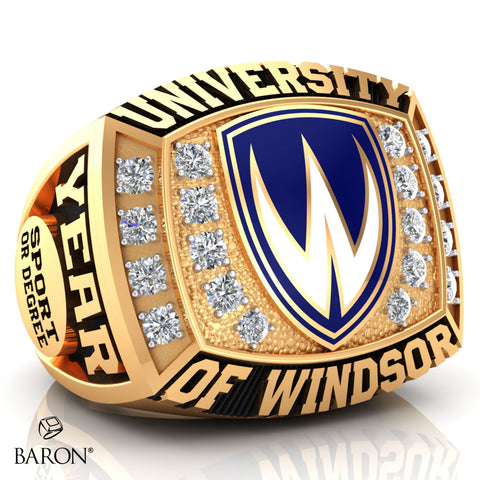 University of Windsor Athletic Ring - 800 (Medium) (Gold Durilium, Two-Tone, 10kt Yellow gold)