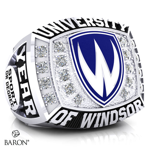 University of Windsor Athletic Ring - 800 Series (Small) (Durilium/ Silver/ Two-Tone, 10kt White gold)