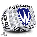 University of Windsor Athletic Ring - 800 Series (Durilium/ Silver/ 10kt White gold)