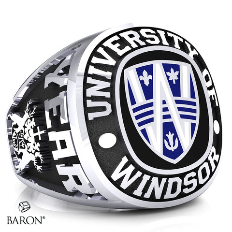 University of Windsor Exclusive Class Ring (Durilium/Silver/ 10kt White Gold)