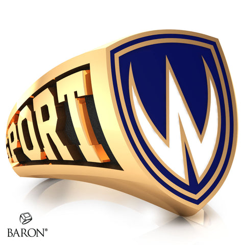 University of Windsor Athletic Shield Signet Class Ring (Medium) (Gold Durilium, 10kt Yellow Gold)