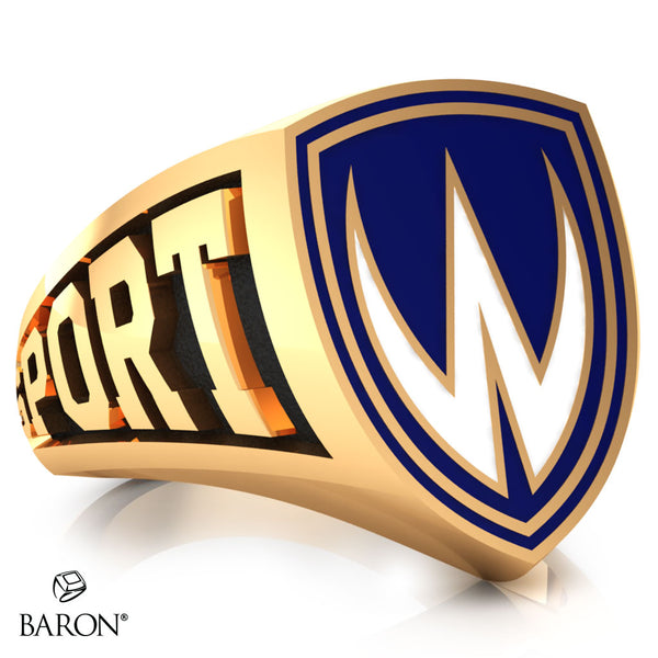 University of Windsor Athletic Shield Signet Class Ring (Gold Durilium, 10kt Yellow Gold)