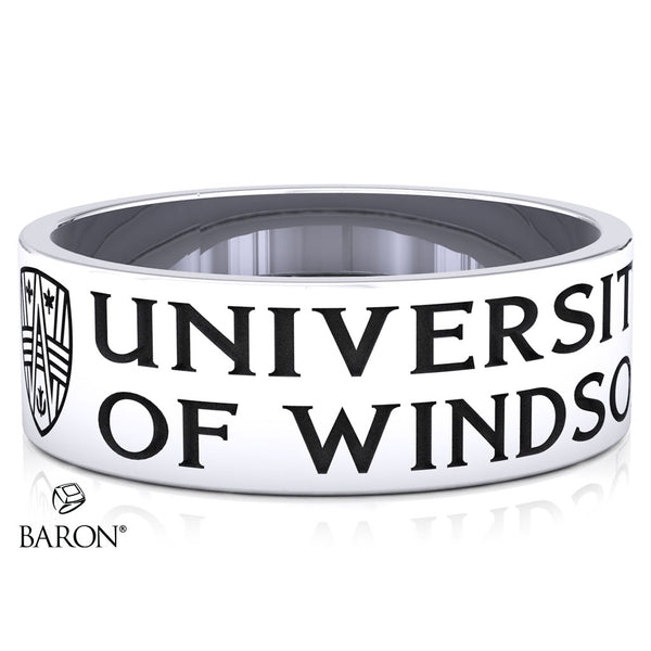 University of Windsor Class Ring (Durilium, Sterling Silver, 10KT White Gold)