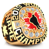 Team Canada- Ball hockey Ring - Design 2.1 (Gold Durilium)