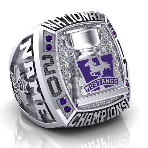 Western Mustangs Lacrosse Ring - Design 13