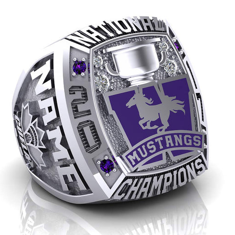 Western Mustangs Lacrosse Ring - Design 14