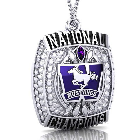 Western Mustangs Championship Replica Ring Top Pendant