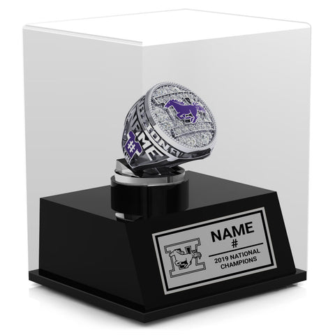 Western Mustangs Championship Display Case