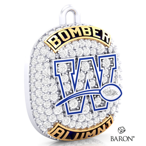 Winnipeg Blue Bomber Alumni Ring Top Pendant- Design 7.30