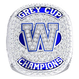 Winnipeg Blue Bombers -1990 Grey Cup Commemorative Ring - Design 1.10A (Durilium / 6KT Gold / 10KT Gold)