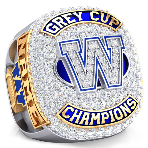 Winnipeg Blue Bombers -1990 Grey Cup Commemorative Ring - Design 1.9A (Gold Durilium / 6KT Gold / 10KT Gold)