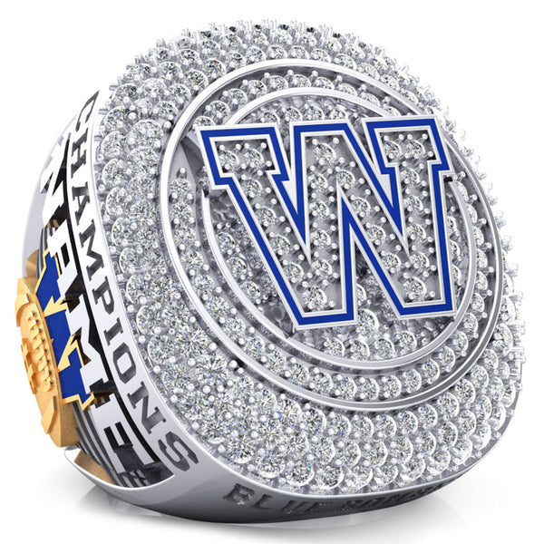 Winnipeg Blue Bombers Alumni 30th Anniversary 1988 Grey Cup Celebration Ring - Design 2.6 (Gold Durilium / 6KT Gold / 10KT Gold)