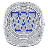 Winnipeg Blue Bombers Alumni 30th Anniversary 1988 Grey Cup Celebration Ring - Design 2.6(Durilium / 6KT Gold / 10KT Gold)
