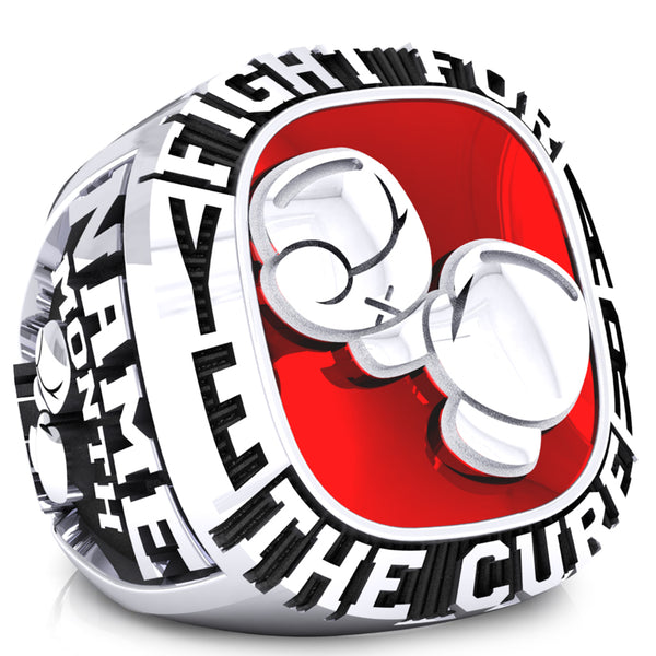 Fight for the cure Ladies ring - Design 1.1