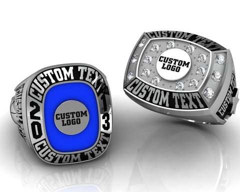 Custom Championship Ring with Custom Logo & Two Custom Shoulder