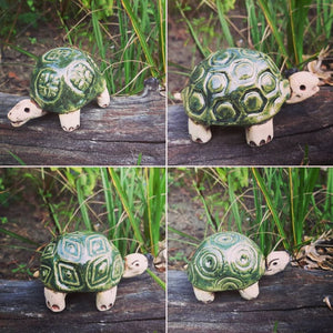 ceramic turtle by muddy muse pottery