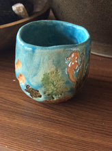 Load image into Gallery viewer, Hand built ceramic sea turtle small cup byLaurel Herbert