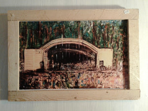 Greenfield lake amphitheater  18x12 framed print