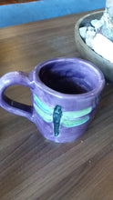 Load image into Gallery viewer, 10 ounce hand made ceramic dragonfly mug