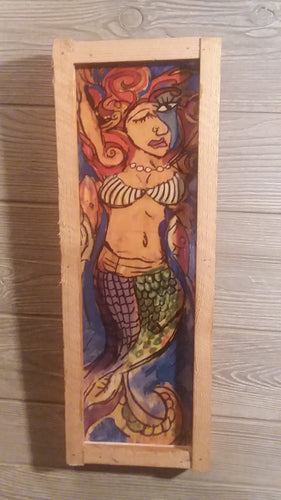 Cubist mermaid 1 17x6
