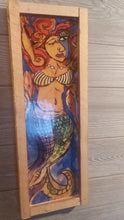 Load image into Gallery viewer, Cubist mermaid 1 17x6 ""