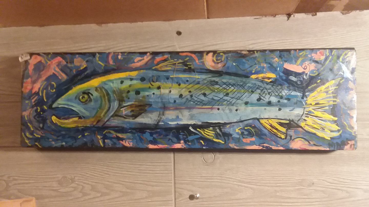 Original fish painting by Mark 7x24