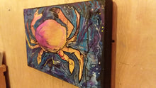 Load image into Gallery viewer, Stars and surf Original crab painting 10x16