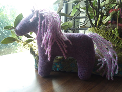 hand made Horse Fiber Art sculptures