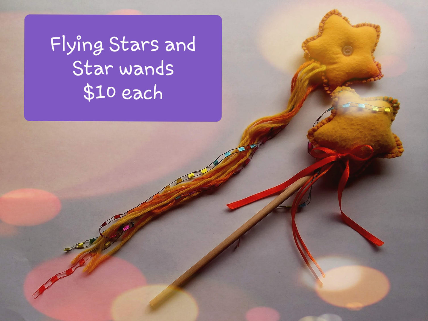 Flying stars and star wand