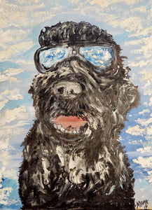 Pet Portrait commission work  order 24x16""