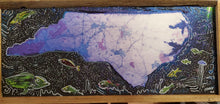Load image into Gallery viewer, Stars over NC map art embellished mixed media original