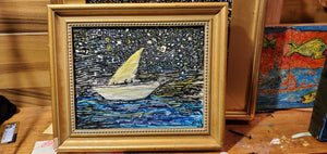Starry sailboat original
