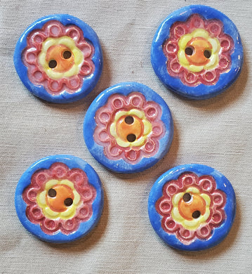 Ceramic button set by laurel Herbert