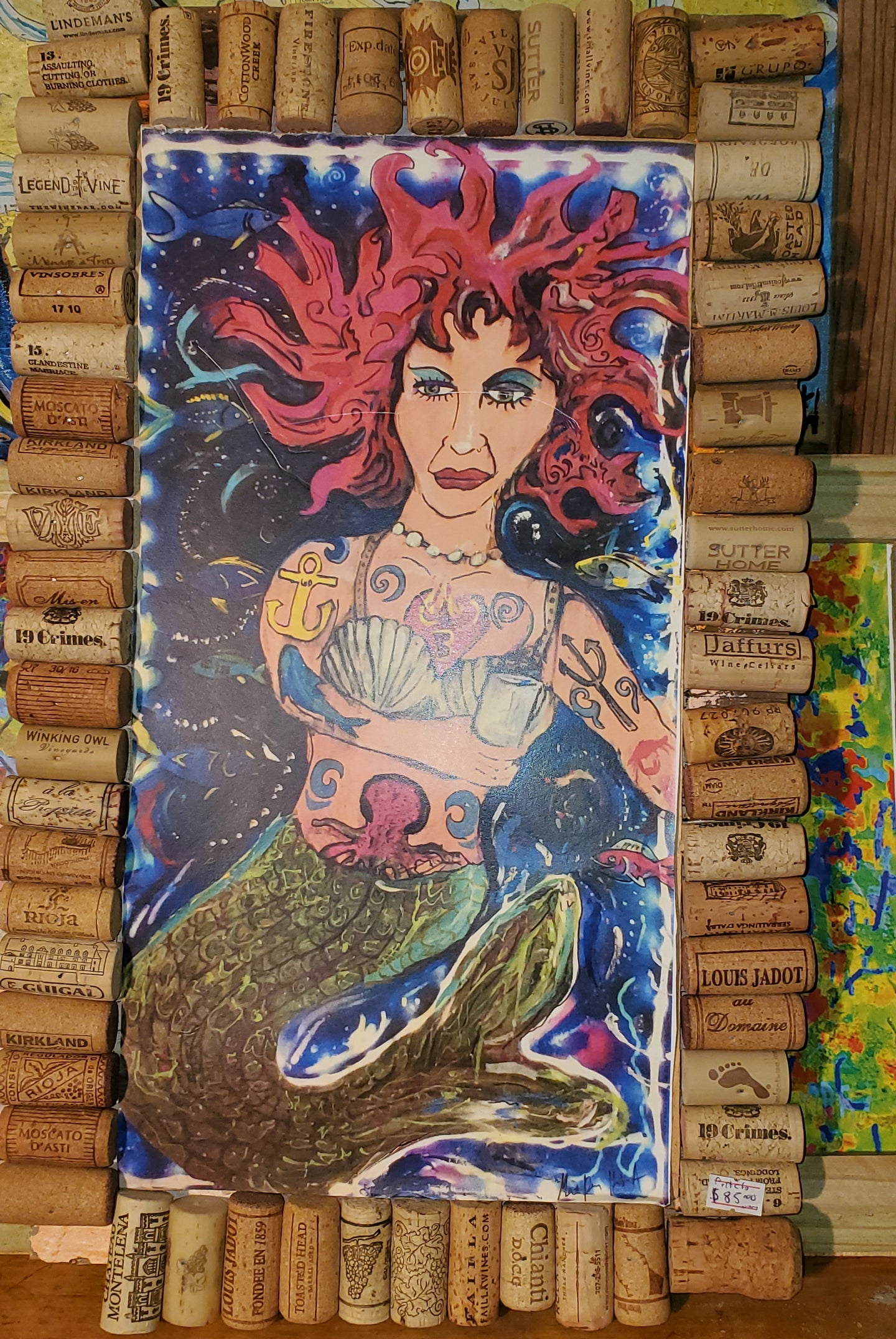 Thirsty mermaid  12x18