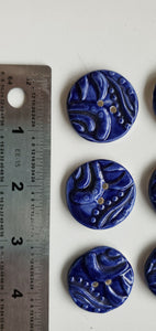 6  1 inch hand made ceramic buttons