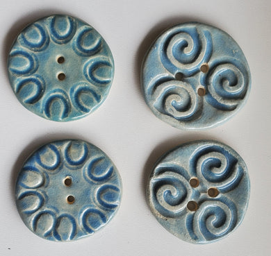 4 large 1.5 inch ceramic buttons