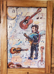 Elvis Tennessee  map art