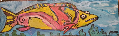 5x16 original fish painting