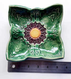 Square Paisley Plate