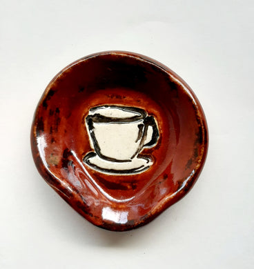 Copper Penny Coffee Cup Spoonrest