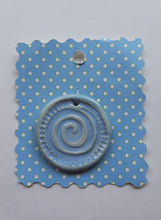 Load image into Gallery viewer, Sky Blue Spiral Gathering Pendant