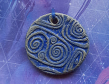 Load image into Gallery viewer, Cosmic Cobalt Blue Pendant